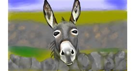 Drawing of Donkey by Tim