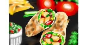 Burrito drawing by RadiouChka