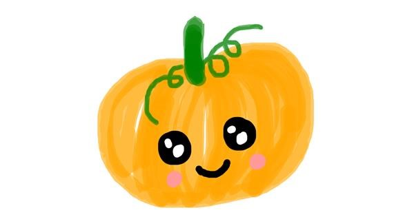 Pumpkin drawing by AdiCat