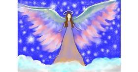 Angel drawing by Debidolittle