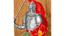 Knight drawing by GJP