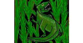 Dinosaur drawing by Natalie