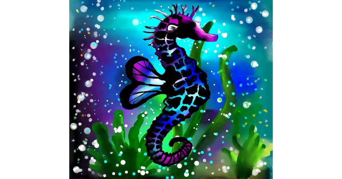 Seahorse drawing by 🌏rhythm💐