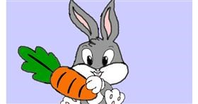 Drawing of Carrot by loser eerawn