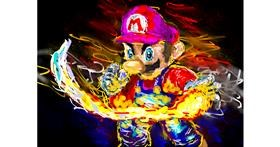 Super Mario drawing by teidolo