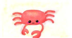 Crab drawing by cookie karr