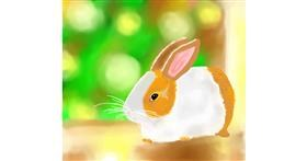 Rabbit drawing by Joze