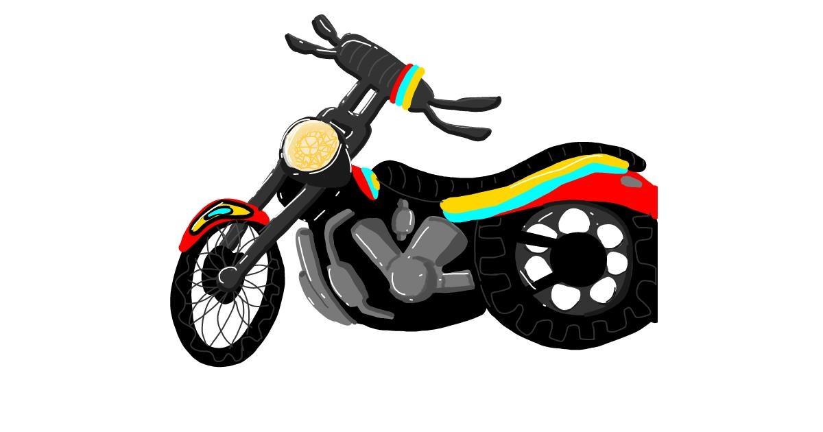Motorbike drawing by NarLunyxo