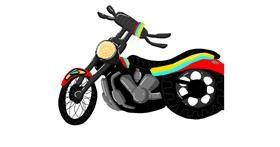 Drawing of Motorbike by NarLunyxo