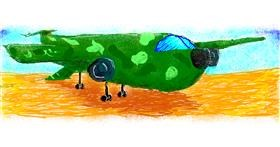 Airplane drawing by 7y3e1l1l0o§