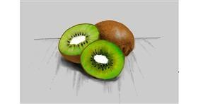 Drawing of Kiwi fruit by Bibattole