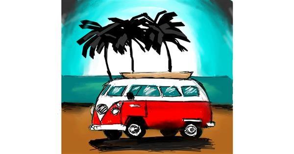 Van drawing by Sara