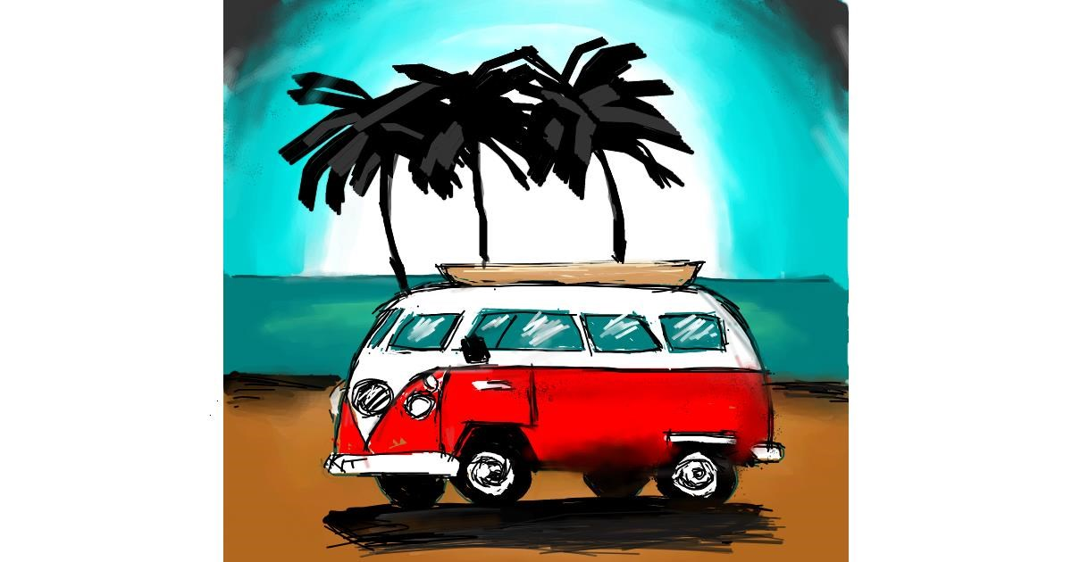 Van drawing by Sara