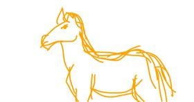 Horse drawing by Green Crow