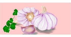 Drawing of Garlic by Debidolittle