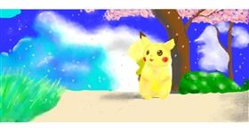 Drawing of Pikachu by Pinky