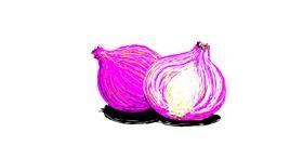 Onion drawing by Scott