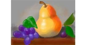 Pear drawing by Debidolittle