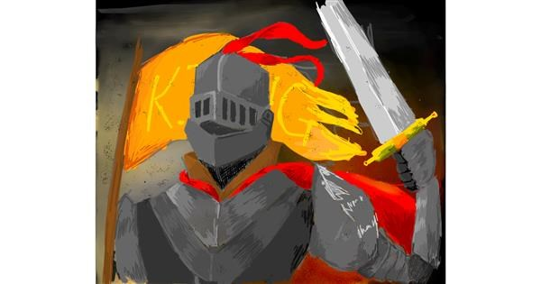Knight drawing by AlwaysN
