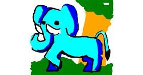 Elephant drawing by cookie karr