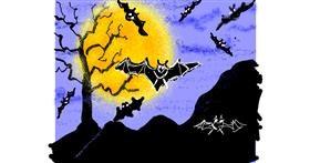 Bat drawing by Cherri