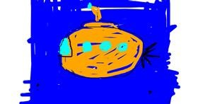 Submarine drawing by Rhea MAE