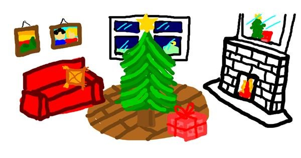 Christmas tree drawing by Rosa