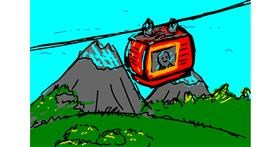 Cable car drawing by Mat