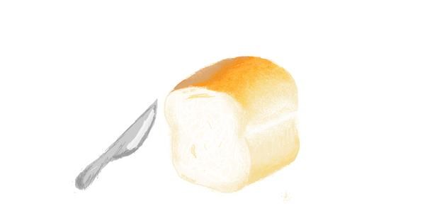 Bread drawing by coconut