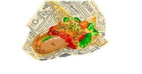 Drawing of Hotdog by Mochi