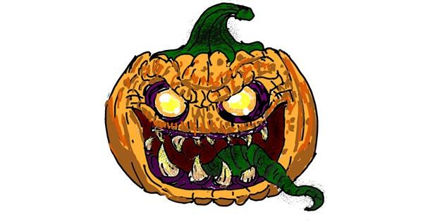 Pumpkin drawing by ThasMe13