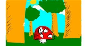Drawing of Mushroom by Anonymous