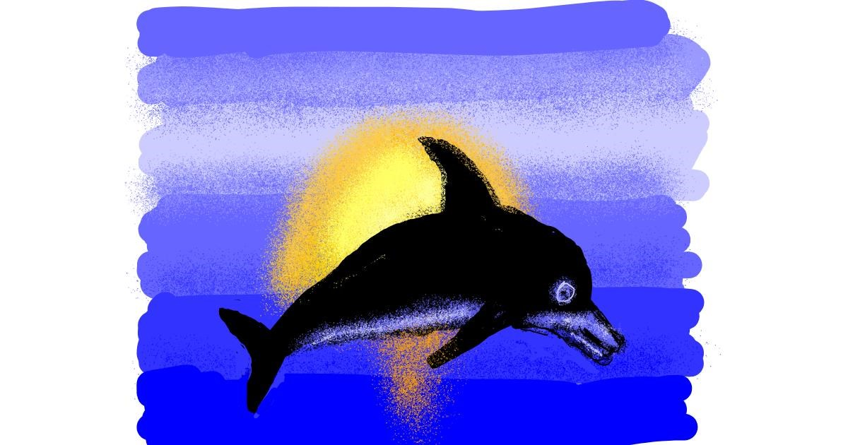 Dolphin drawing by Cherri
