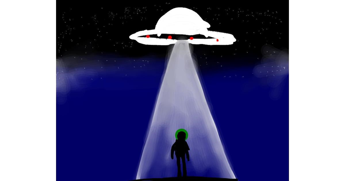 Drawing of Alien by pHantom