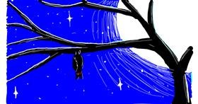 Bat drawing by LILAH