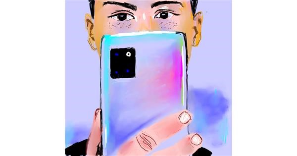 Phone drawing by Claria