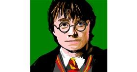 Drawing of Harry Potter by Rak