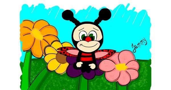 Ladybug drawing by Jennifreis