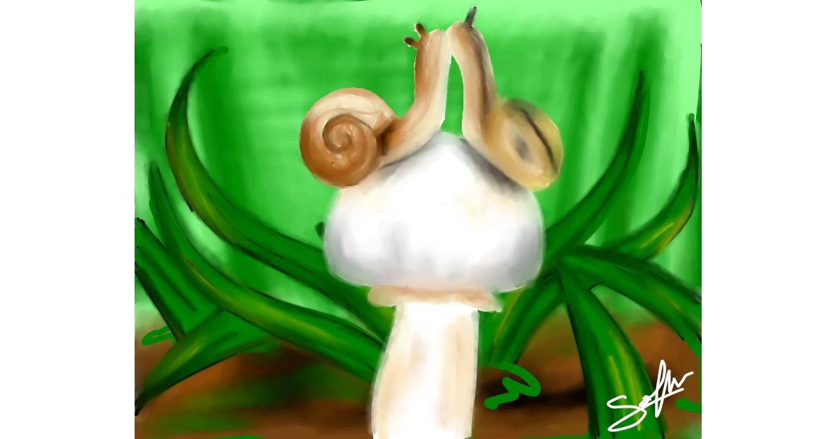Snail drawing by Sophie_draw24