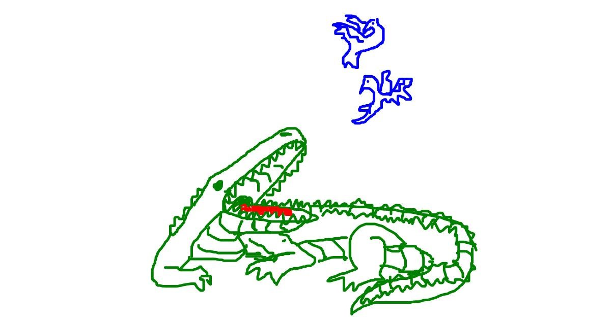 Alligator drawing by Trenchman