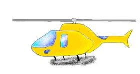 Helicopter drawing by coconut
