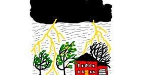 Lightning drawing by Powersave Airlines