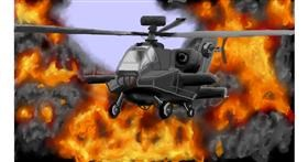 helicopter drawing by Bicho