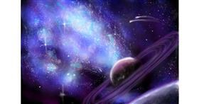 Drawing of Saturn by RadiouChka