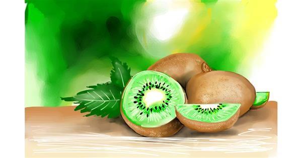 Kiwi fruit drawing by Rose rocket