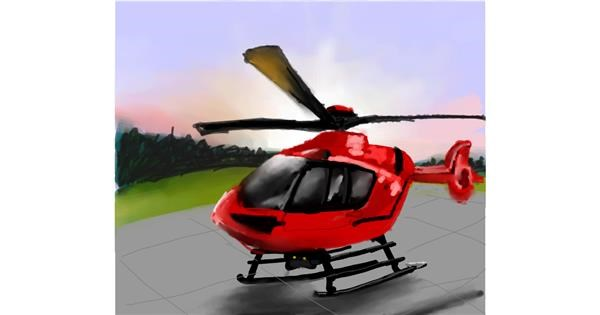 Helicopter drawing by Muni