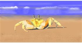 Drawing of Crab by Pinky