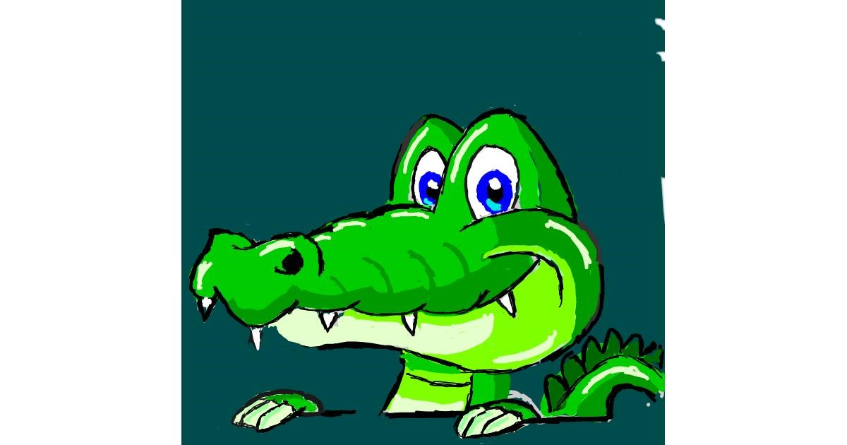Alligator drawing by Coyote