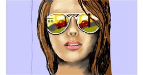 Sunglasses drawing by SAM AKA MARGARET 🙄