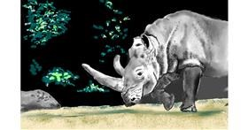 rhino drawing by GJP